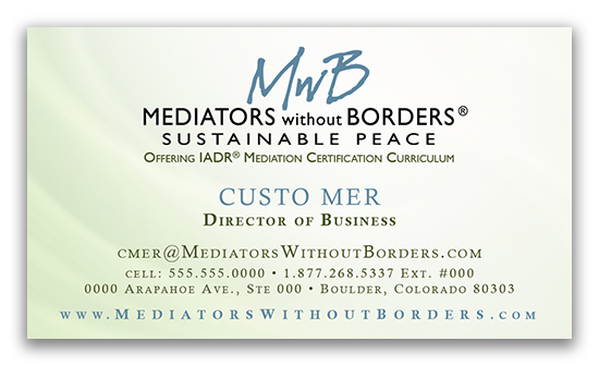 Mediators Without Borders Business Card