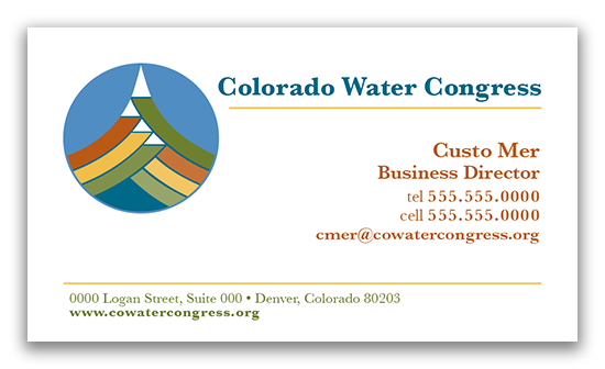 Colorado Water Congress Business Card