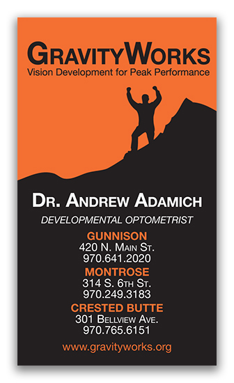 Gravity Works Vision Therapy Business Card