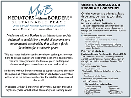 Mediators Without Borders Brochure